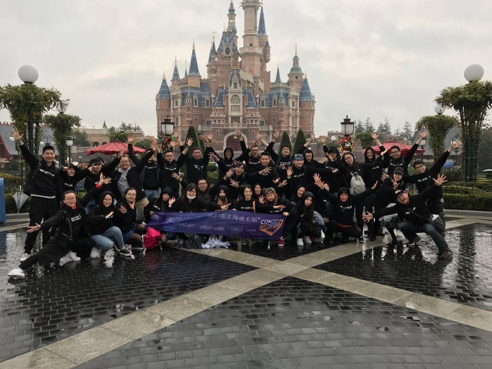 Concept Art House Team chasing the clouds away at Shanghai Disneyland