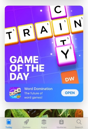 Word Domination  featured as Game of the Day on App Store