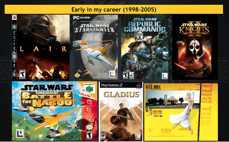 Some of the games James worked on before founding Concept Art House