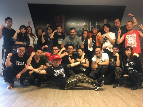 Jeremy Cranford during his visit to CAH office in Shanghai