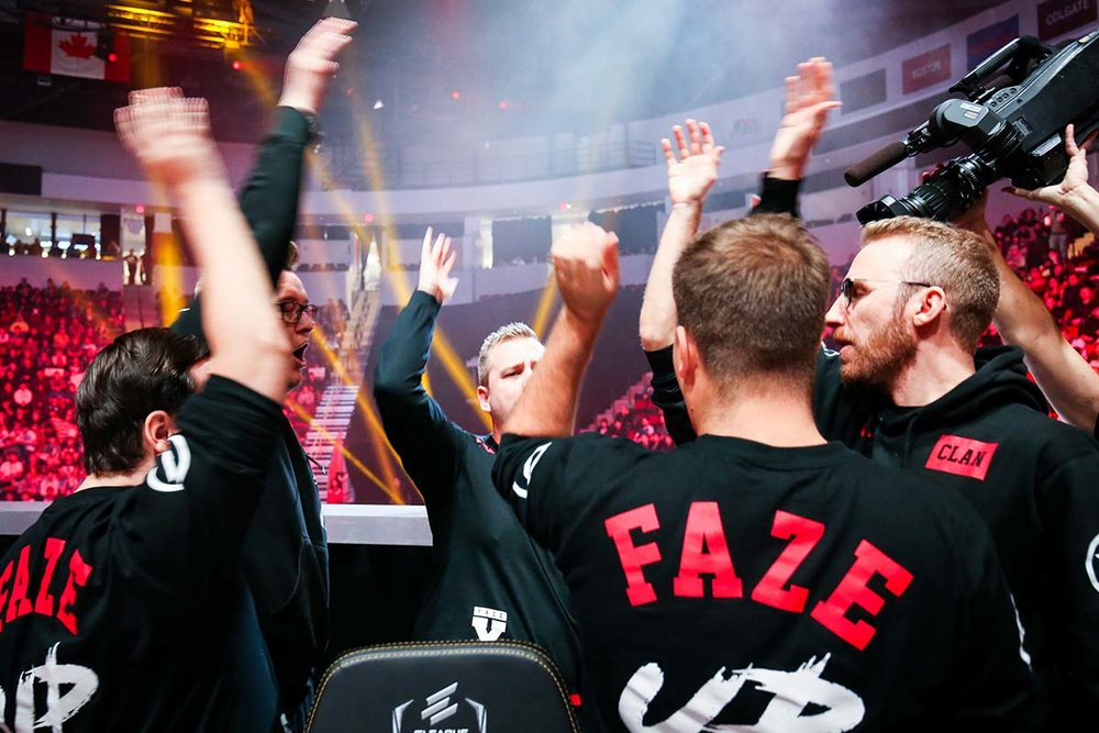 FaZe Clan gearing up for the finals. Photos courtesy of Turner Sports