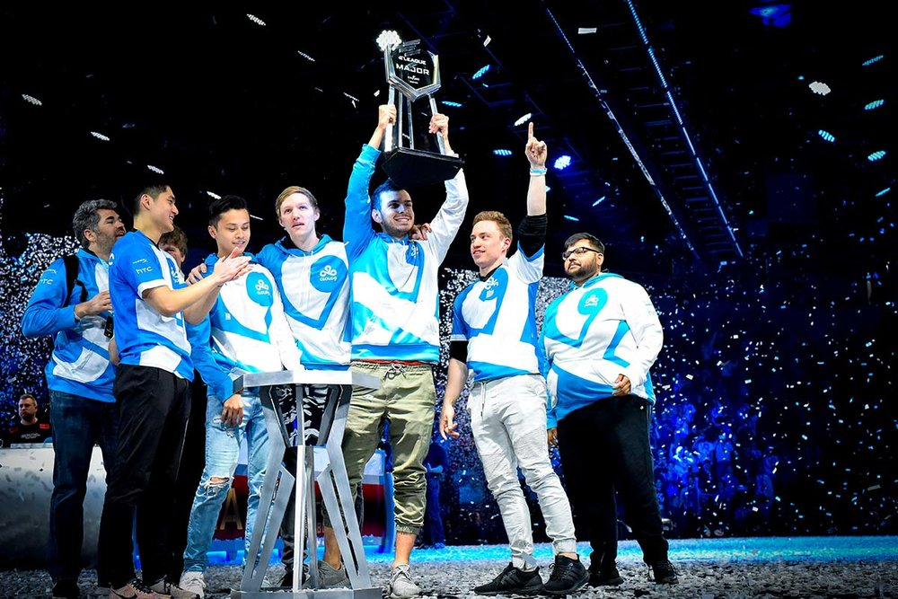 CLOUD9 the new ELEAGUE MAJOR Champions. Photos courtesy of Turner Sports