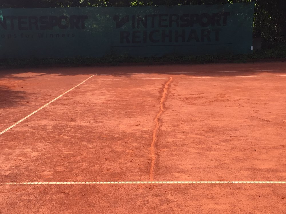 This line can be adjusted closer or further from the baseline, depending on how demanding you'd like to be.