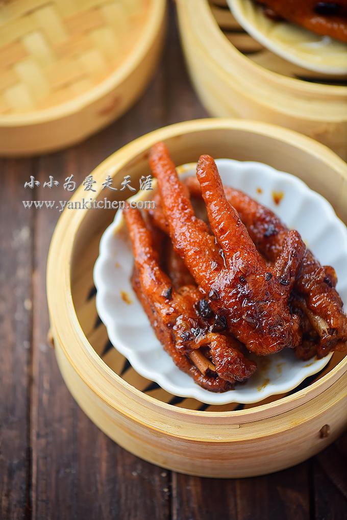 Steamed Chicken Feet In Black Bean Sauce Yankitchen