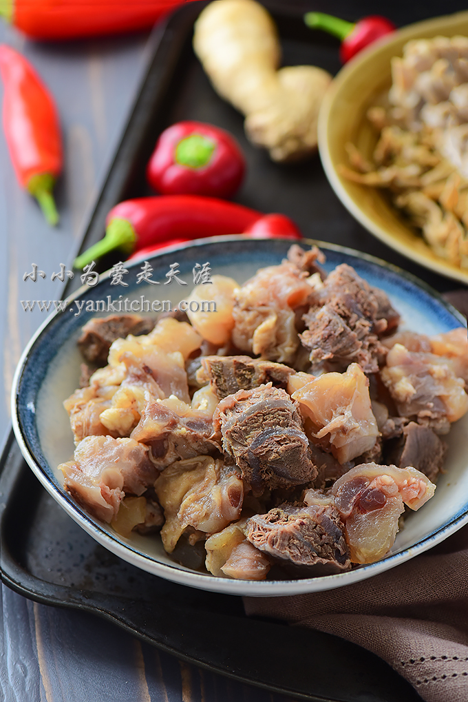 pickled bamboo beef shank and tendon stew with dried bamboo shoots yankitchen