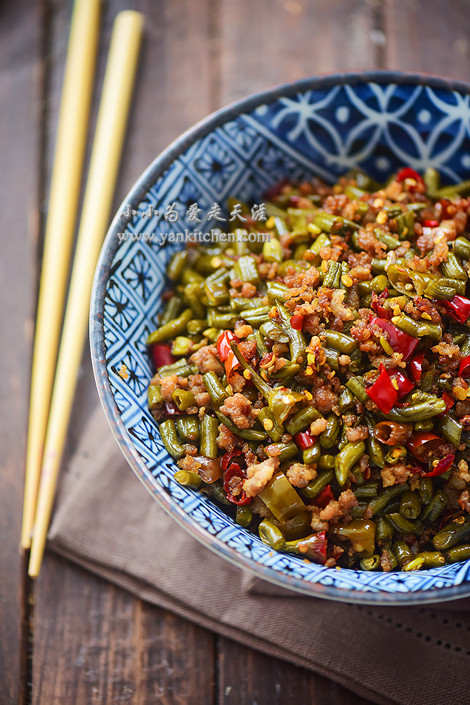 sichuan pickled string beans and ground pork.jpg