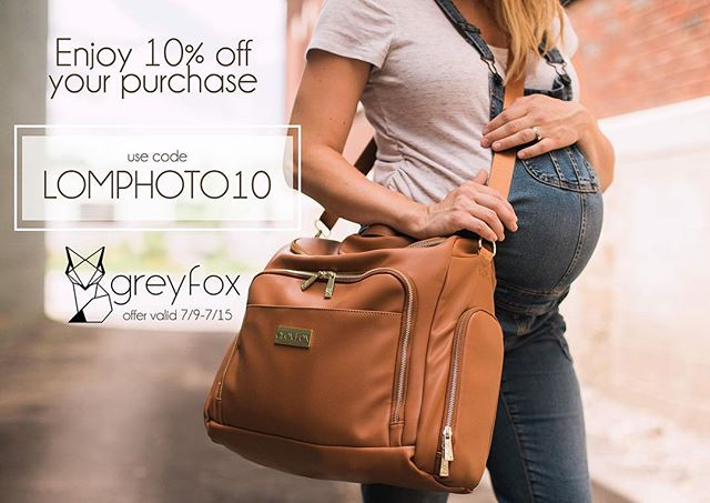 As promised, Use code LOMPHOTO10 for 10% off your @greyfoxandcompany purchase. All three of their gorgeous bag colors are currently in stock! Don't miss your chance to snag one💗