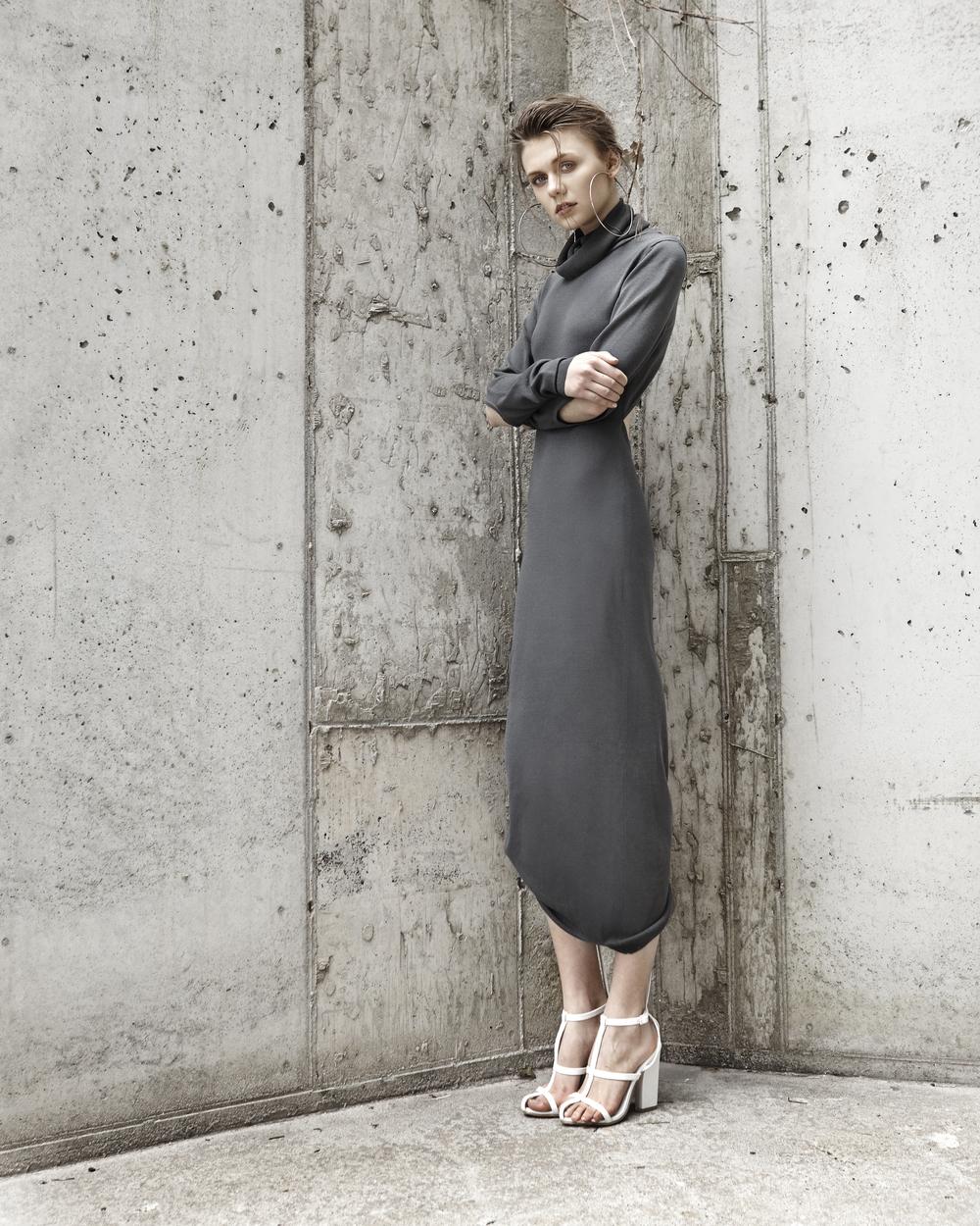 I.V. Turtleneck Knit Dress