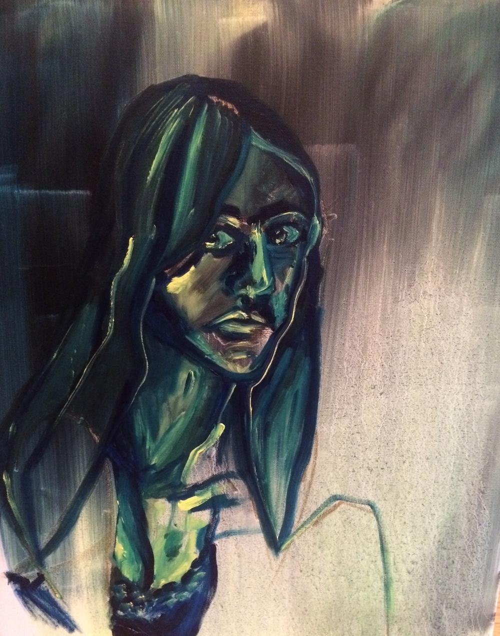 Selfie 4: acrylic on canvas