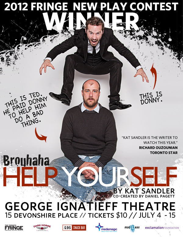 Poster for Toronto theatre company Theatre Brouhaha. Photo by Zaiden.