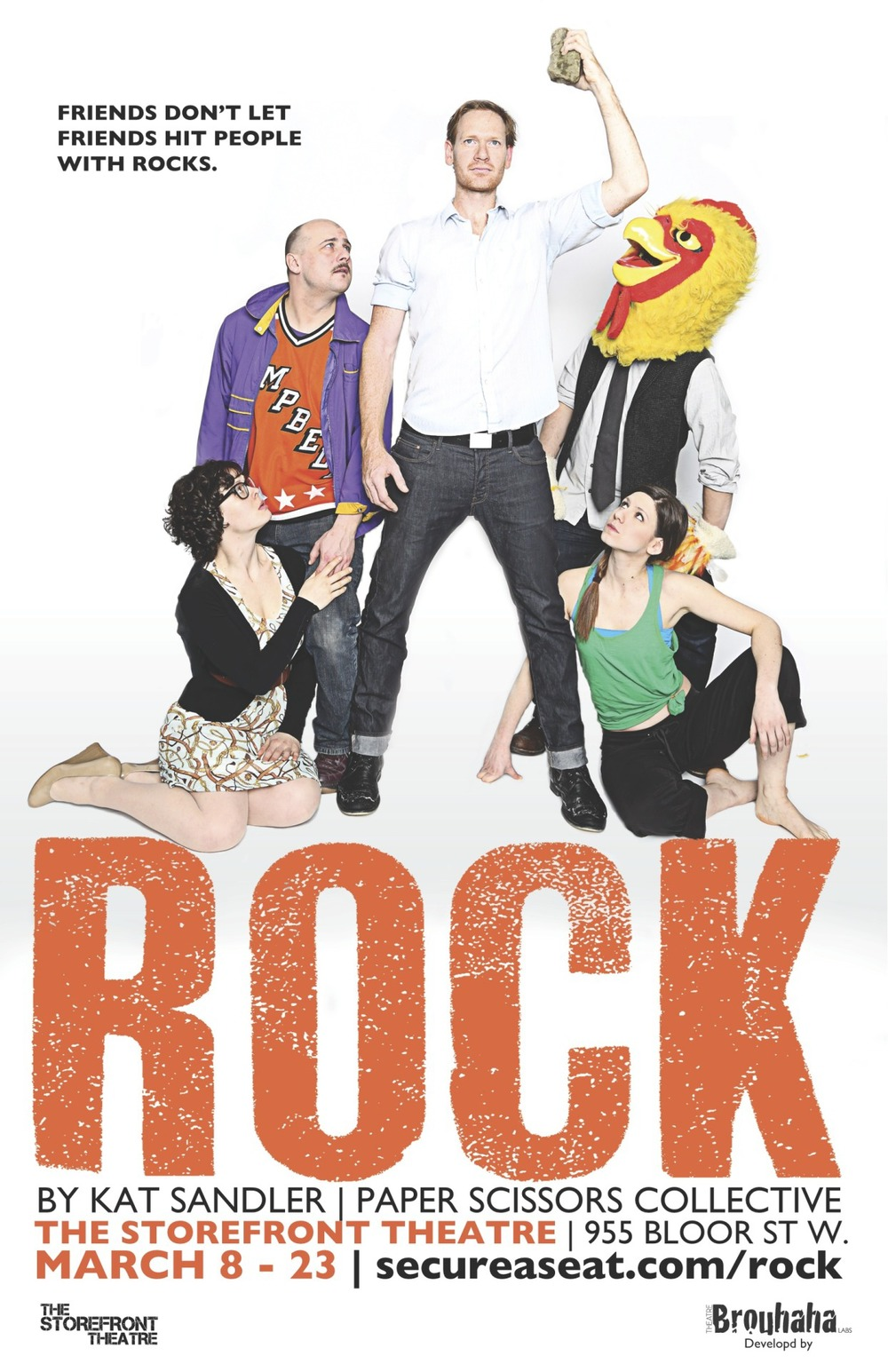 Poster for Rock by Theatre Brouhaha's Kat Sandler. Photo by Zaiden.