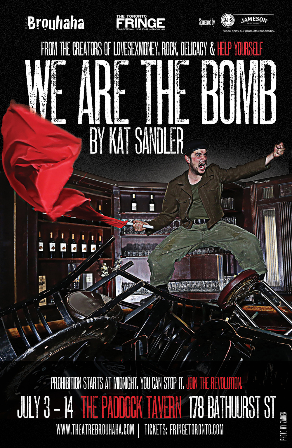 We Are The Bomb by Theatre Brouhaha's Kat Sandler. Photography by Zaiden.