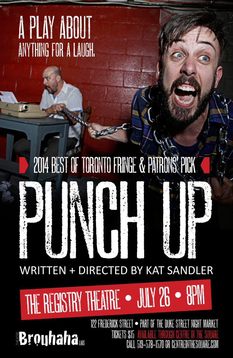 Poster for Punch Up by Theatre Brouhaha's Kat Sandler. Photography by Zaiden.
