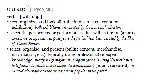 Curate Definition.