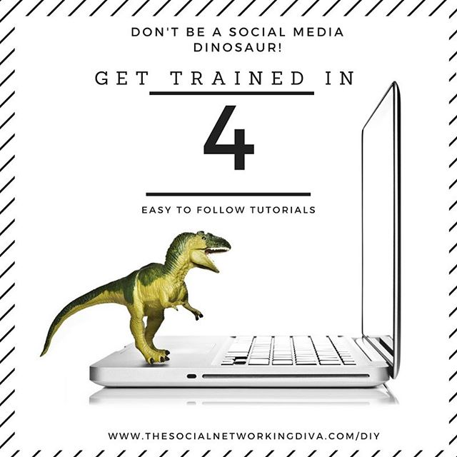 Stop being frustrated by what you don't know! I hear this excuse al the time: Oh, I'm a social media dinosaur. It's not like you can't learn how to master this amazing business tool. In fact I've created a simple, ground up training so you can be a diKNOWsaur 🐉 Stop with the excuses. Bonus, it's $100 off the next three days. Go get it! #stoptheexcuses  www.thesocialnetworkingdiva.com/diy