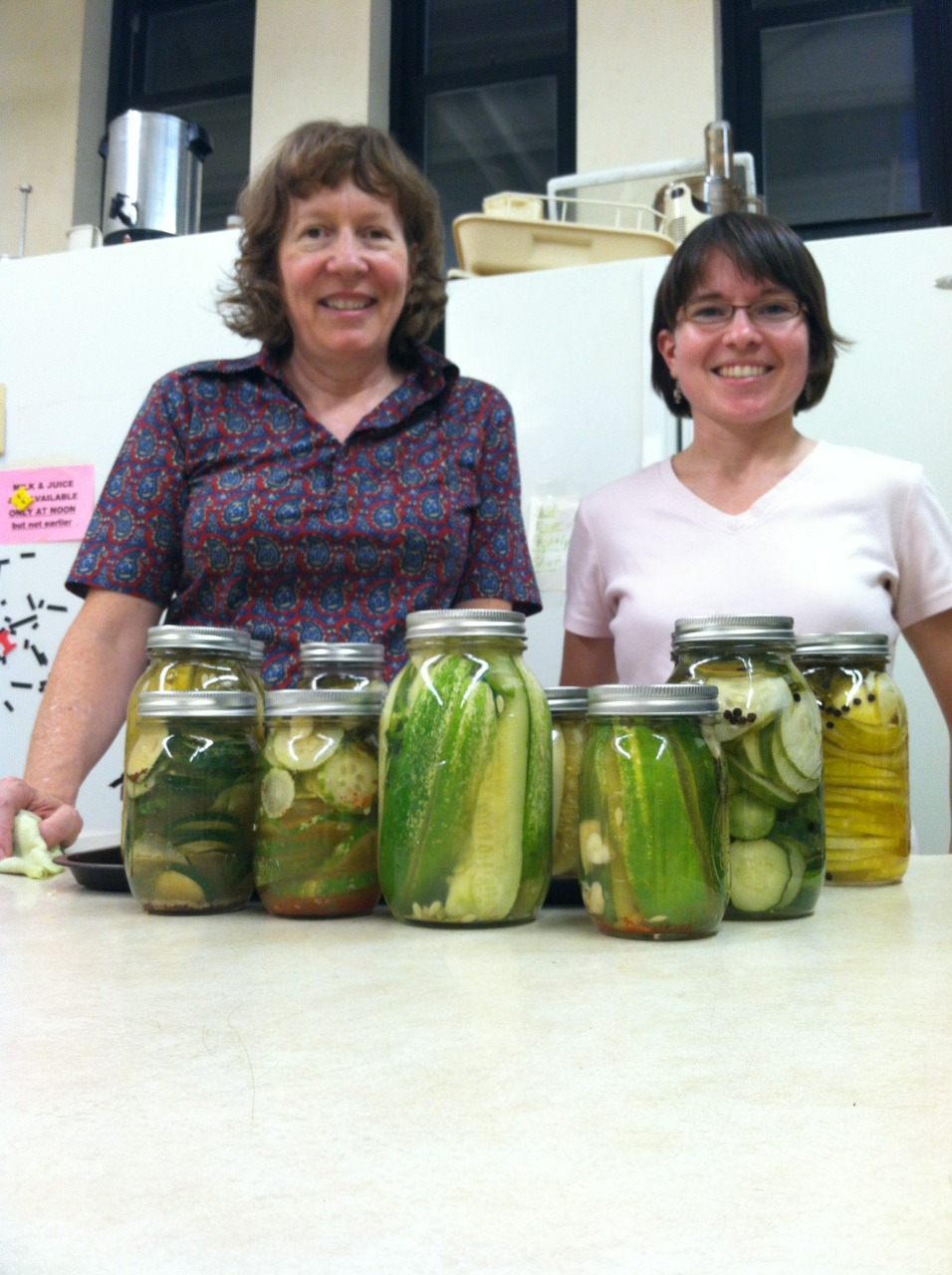Pickling workshop with cucumbers from the PS1 garden.