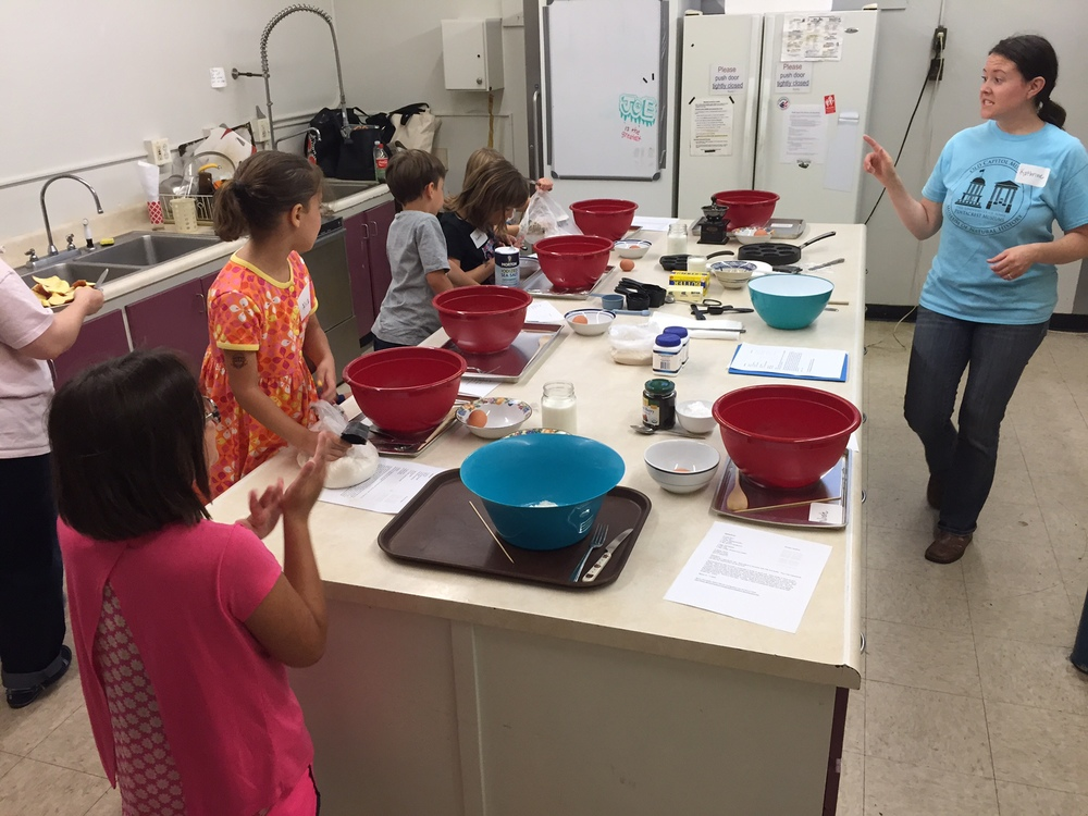 The Old Capitol Museum offered a series of Kiddo Cooking Classes as part of The Land Provides: Iowa's Culinary Heritage.