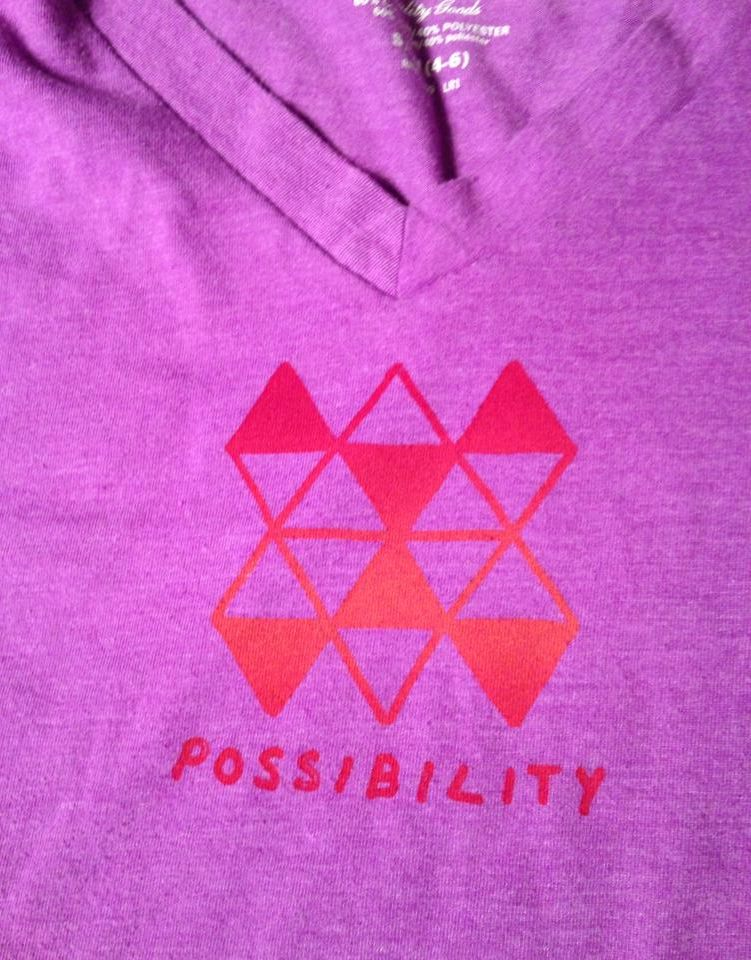 Possibility screenprinted t-shirt