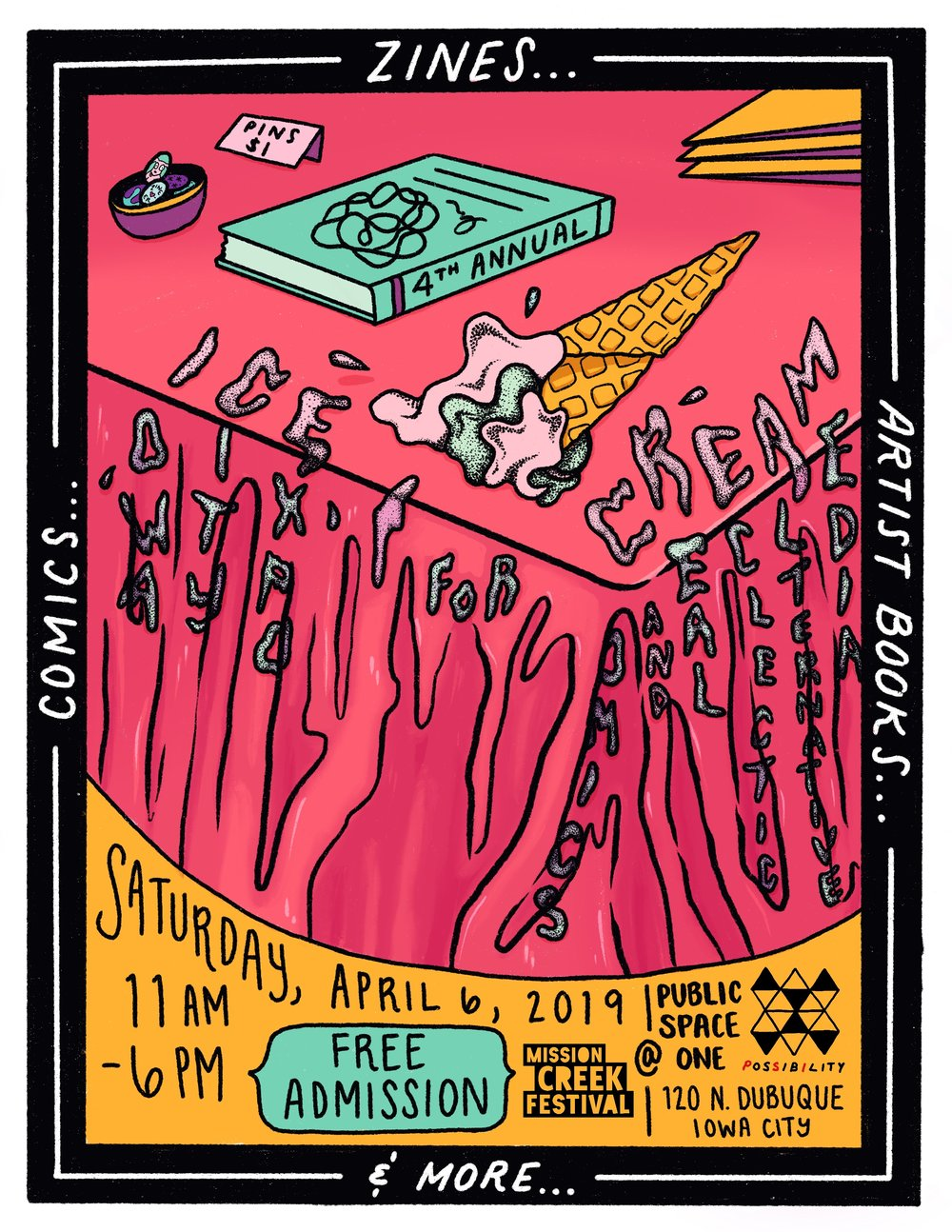 the 4th annual ICE CREAM (IC Expo for Comics and Real Eclectic Alternative Media) is April 6!