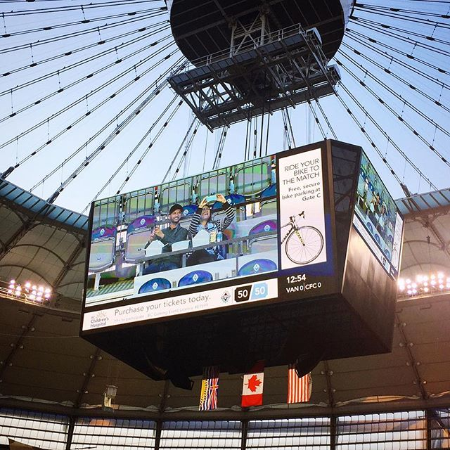 @whitecapsfc Date Nite ❤️ We made it to the big screen! #vwfc