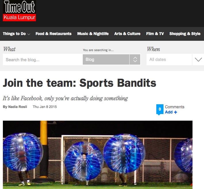 Feature in Timeout KL's online portal (Screenshot)