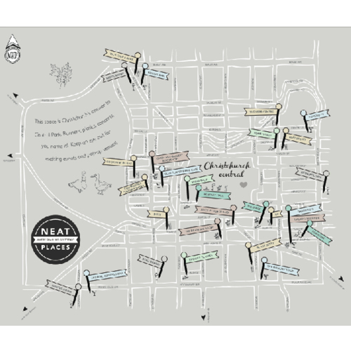 pinned map of christchurch