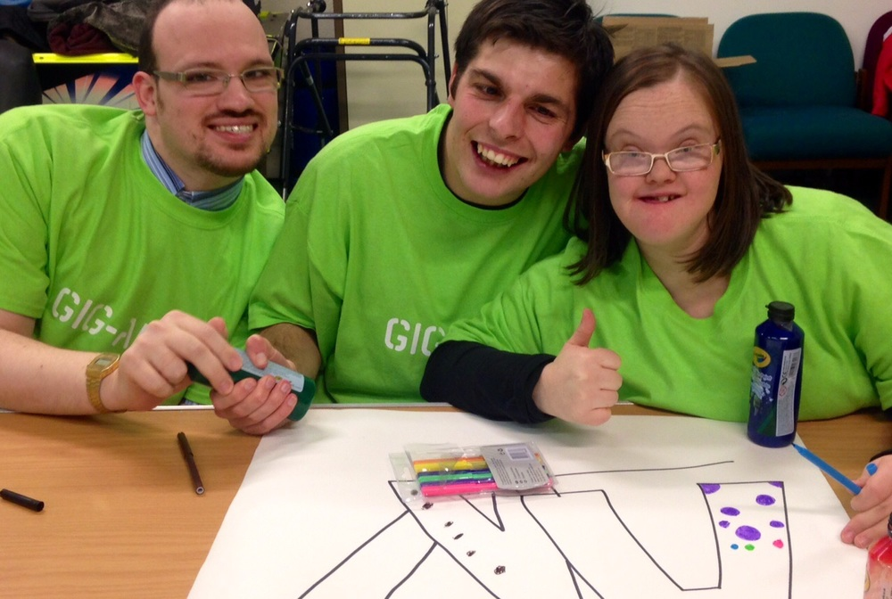 Gig-Arts participants gaining confidence and creative skills - and having fun!