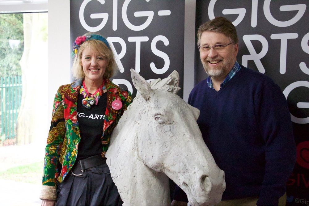 The presentation of the Gig-Arts Banbury Horse Head Sculpture