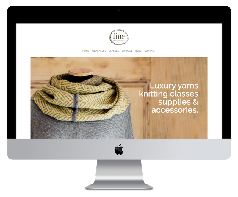 Squarespace web design for yarn shop