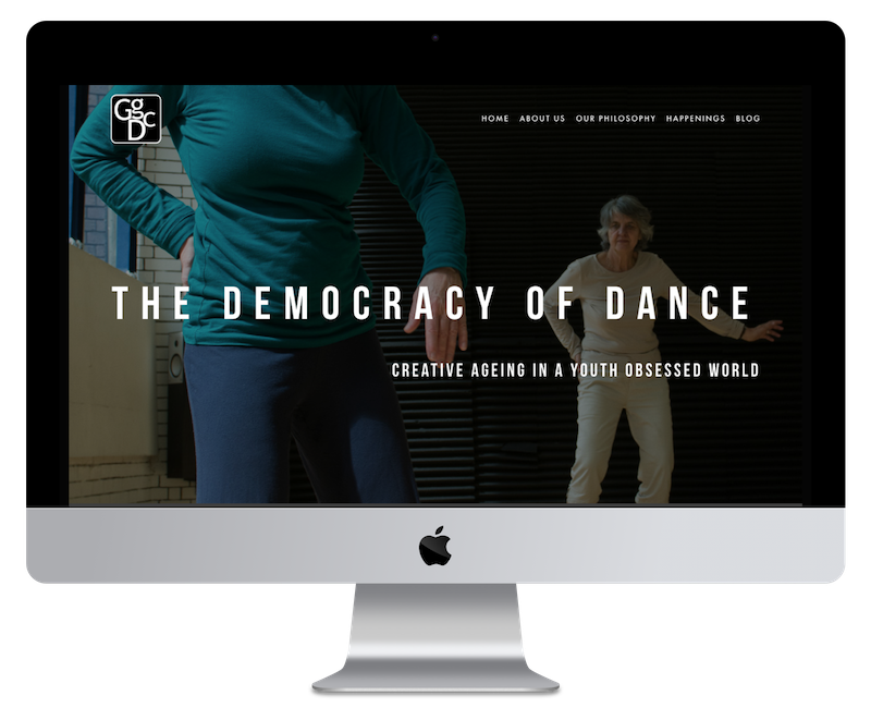Squarespace web design for dance group