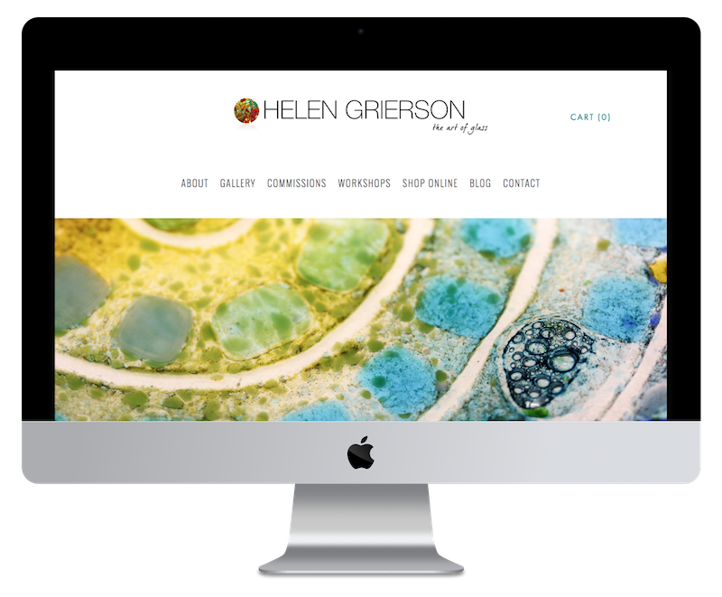 Squarespace web design for glass artist