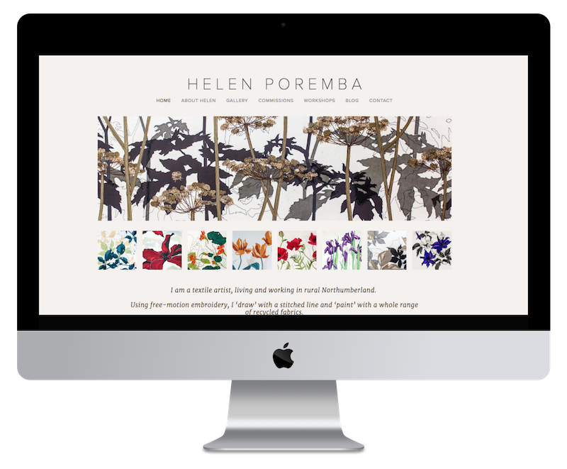 Squarespace web design for textile artist