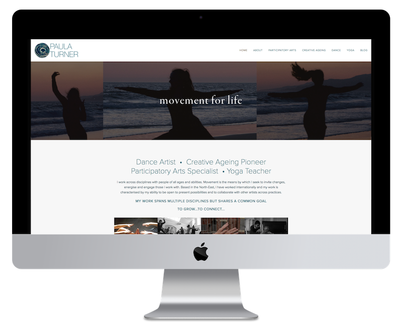 Squarespace web design for yoga teacher