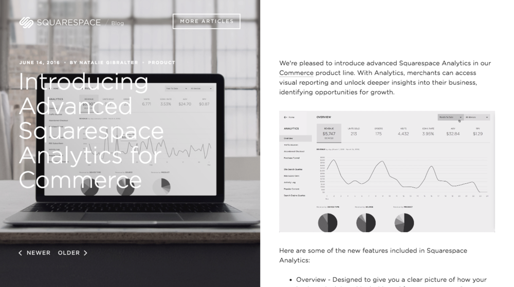 Improved Squarespace Analytics