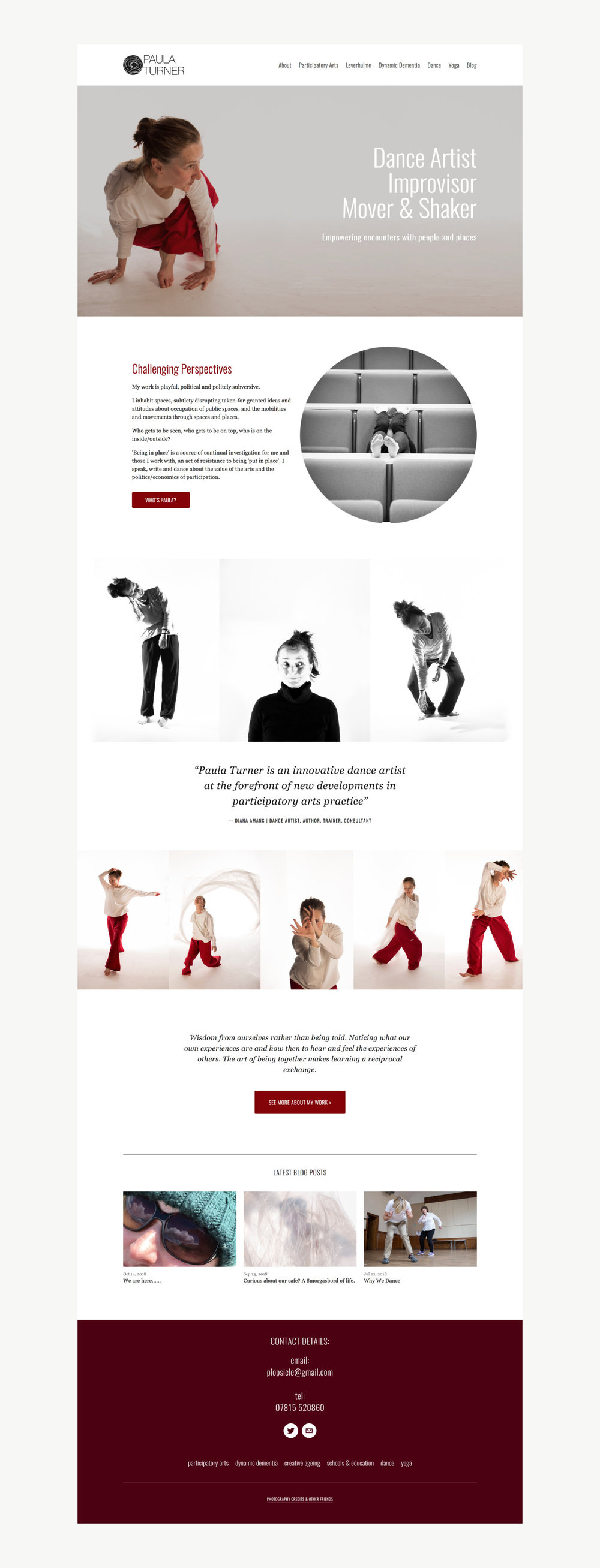 web design for yoga teacher