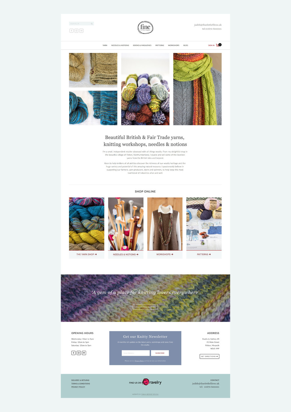 Online Shop for Knitting Supplies - Fine Fettle Fibres