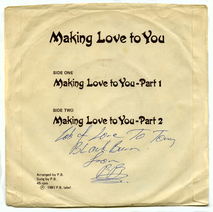 I managed to buy a copy signed to  TONY BLACKBURN