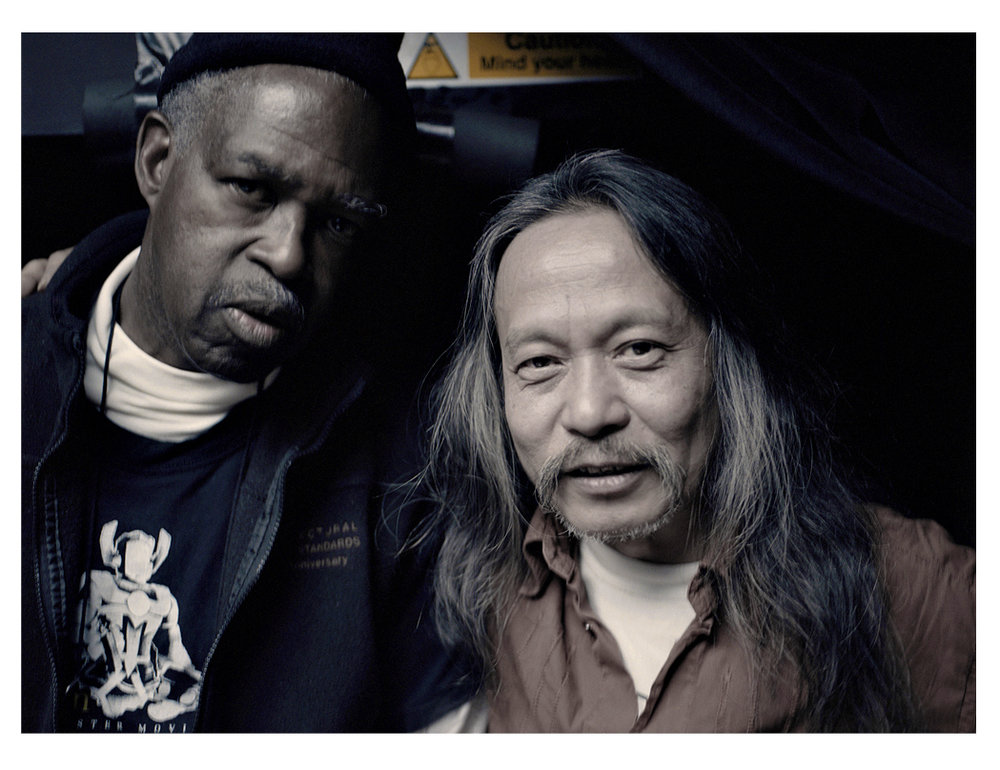 Malcolm Mooney with Damo Suzuki