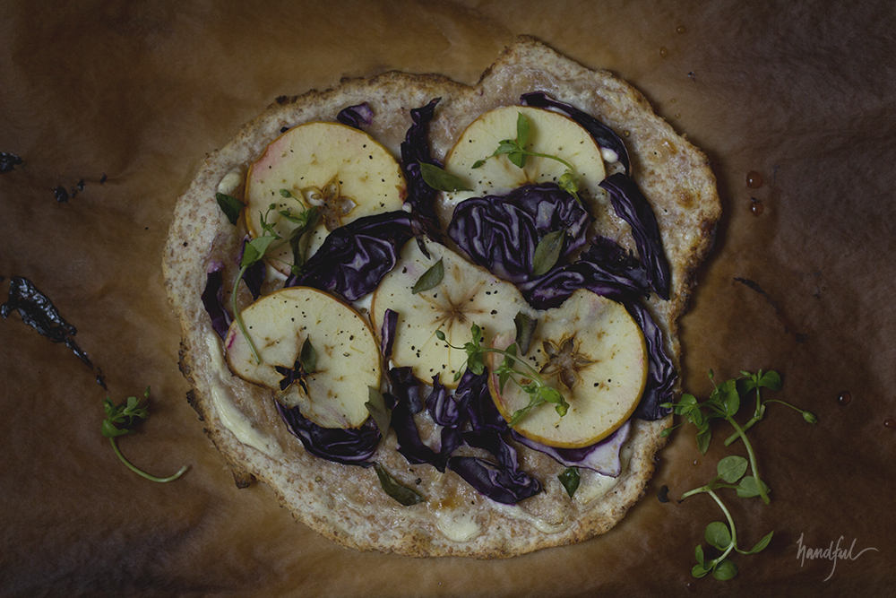 Handful | Purple Cabbage Apple Flammkuchen