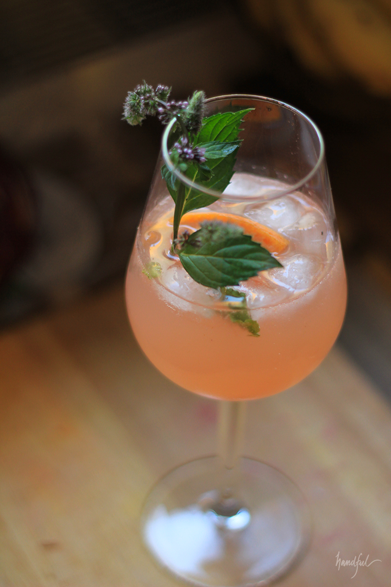 Grapefruit panna! A lemonade infused with cumin and a salty tinge.