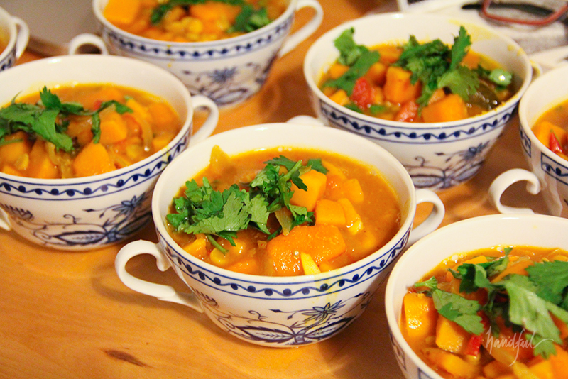 Pumpkin Kozhambu over Rice