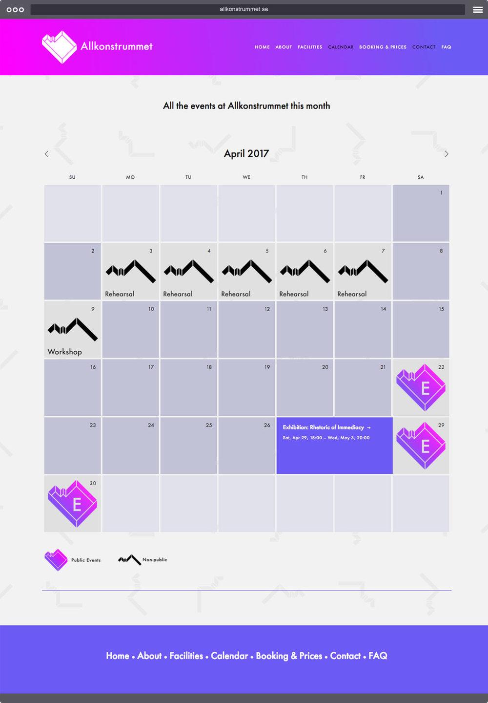 Allkonstrummet Calendar