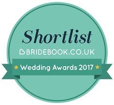 We've been nominated for the bridebook wedding awards 2017!