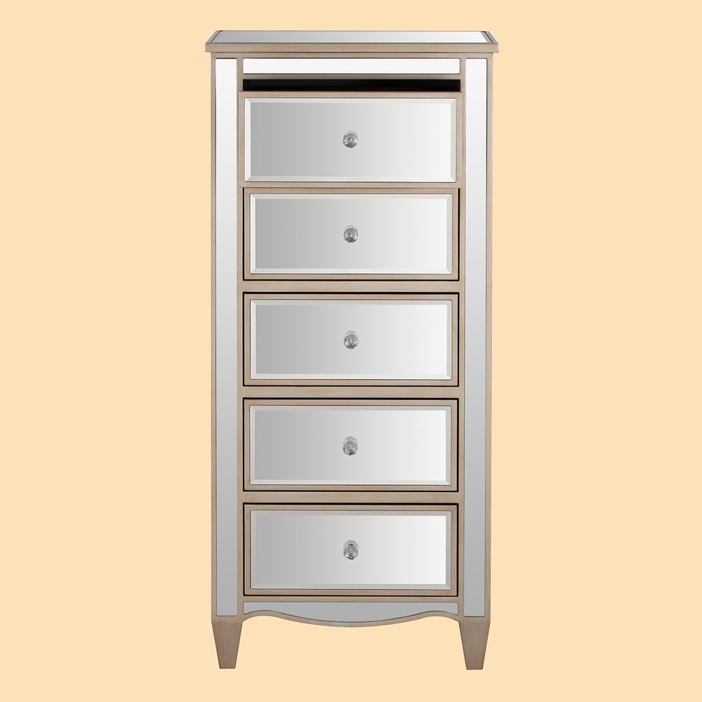 Mirrored drawer chest drawer furniture product