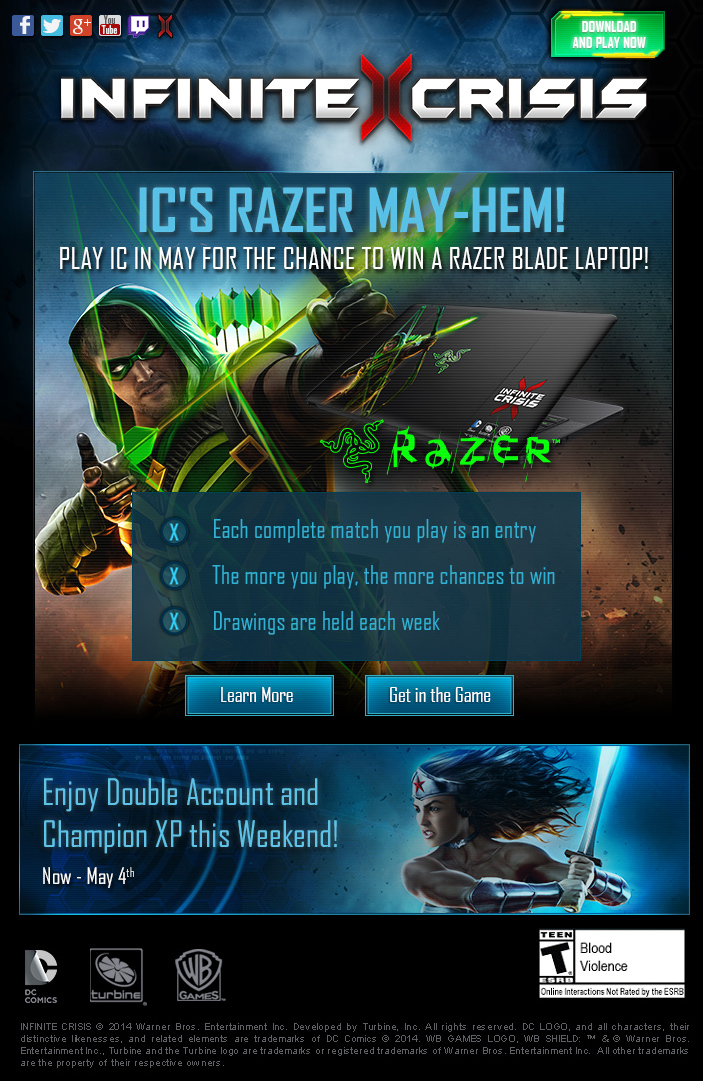 Email copy is often not glamorous. It's short, witty, and ideally--it's amusing. When helping create and write the copy for this Razer Laptop contest, I was quite fortunate it was the month of May. As a writer, it's not often I get to employ puns in a professional capacity.