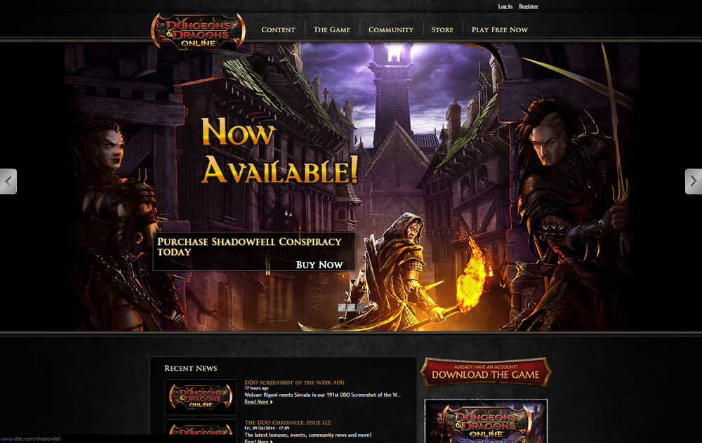 Dungeons & Dragons Online is a complex action-RPG that can be quite challenging for new players. So, as part of   overall content creation for DDO.com  , we strove for new player guides that were heavily influenced by the input of veteran DDO players. This required working very closely with the community leads to ask effective questions and drive social engagement for news, game guides, features, and in-game events.
