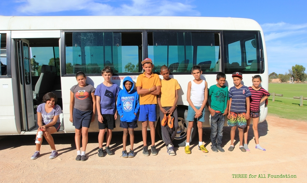 The Mildura United bus brings kids from all around Mildura and over the Murray in Dareton and Buronga to training twice a week and games every Sunday.