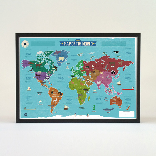 My first world map poster marcus walters illustration and design my first world map poster gumiabroncs Choice Image