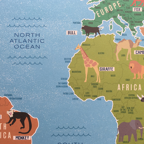 My first world map poster marcus walters illustration and design my first world map poster gumiabroncs Image collections