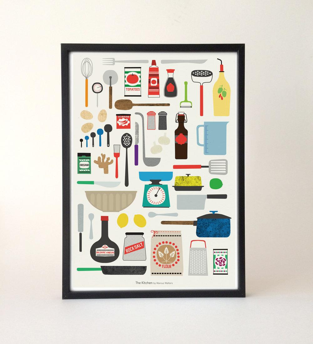 Kitchen - Fine art print — Marcus Walters Illustration and design